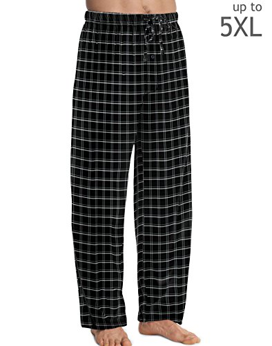 Hanes Men's ComfortSoft® Cotton Printed Lounge Pants Black Plaid M Hanes Men's ComfortSoft® Cotton Printed Lounge Pants