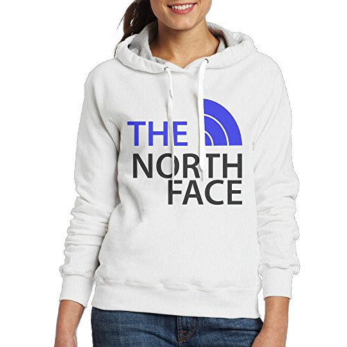 MUMB Women's Hoodie The North Face Size M White (Green Text Hoody White)