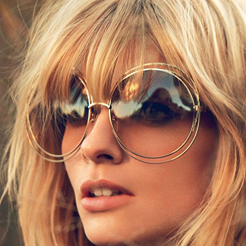 Big Round Oversized Double Wire Rim Sunglasses Metal Frame Retro XL Vin Shades