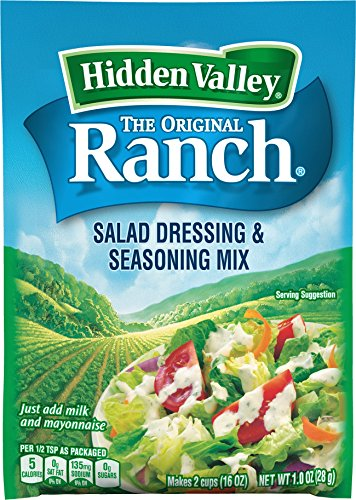 Hidden Valley Original Ranch Salad Dressing & Seasoning Mix, 1.0 (Low Calorie Salad Dressing)