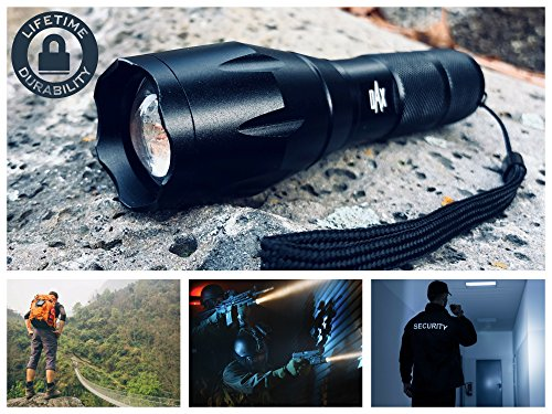 Dax Tactical Flashlight Kit 2 Rechargeable Flashlights