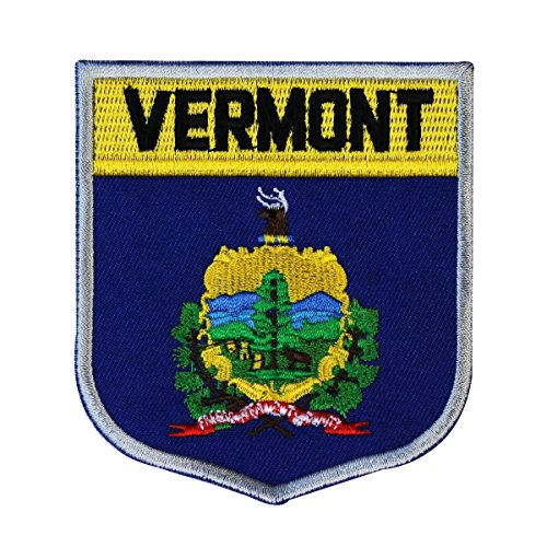State Of Vermont Shield Flag Embroidered Applique Patch
