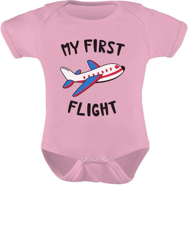 Tstars – My First Flight Funny Vacation/Holiday Baby Boy/Girl Baby Bodysuit