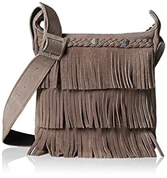 Minnetonka Fringe Handbag Grey