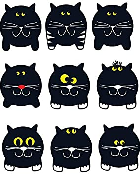 Ceramic Decal Glass Decal to Choose from Choose Either Ceramic Fat Face Black Cats Images 37101 Enamel Enamel Decal Waterslide Decal 3 Different Size Sheet or Glass Fusing Decals