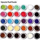 Mica Powder pigments, 10 ml jar or Set of 54 Colors, Natural Pearlescent mica Powders, dye for Nail Cosmetic soap Making Makeup