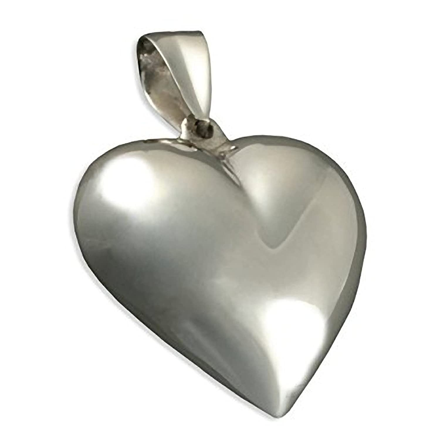 Tuscany silver sterling silver large puffed heart pendant amazon extra large puffed heart sterling silver pendant necklace on 16 18 or mozeypictures Gallery