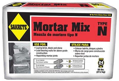 Sakrete 65306214 60 lbs. Type N Regular Strength Mortar Mix TRVAL70578