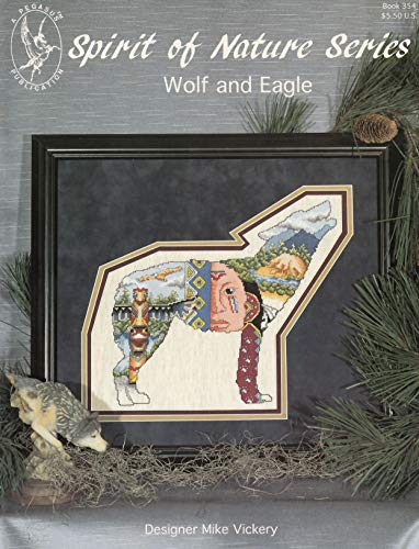 Pegasus Originals Wolf and Eagle Counted Cross Stitch Leaflet