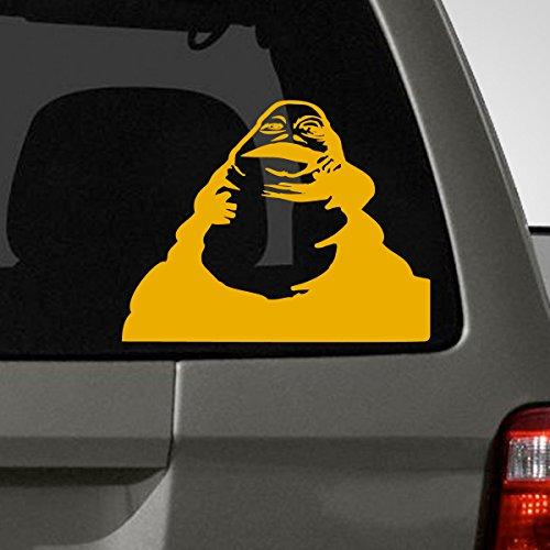 Jabba The Hut Car Decal, Yellow, 7