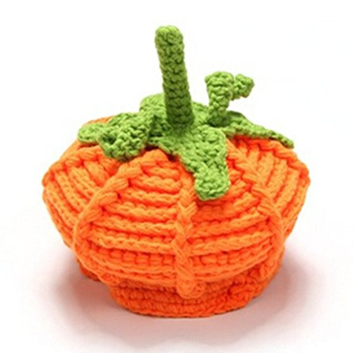Kafeimali Baby Unisex Beanie Knit Pumpkin Hat Crochet Hats for Halloween Caps (L)