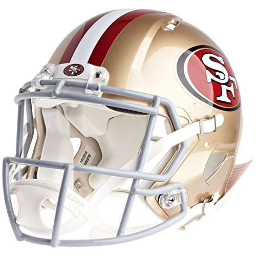 San Francisco 49ers Deluxe Helmet - San Francisco 49ers Officially Licensed Speed Authentic Football Helmet