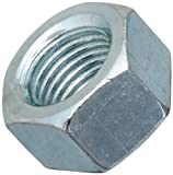 Steel Hex Nut, Zinc Plated Finish, Grade 2, ASME B18.2.2, 3/8''-16 Thread Size, 9/16'' Width Across Flats, 21/64'' Thick (Pack of 100)