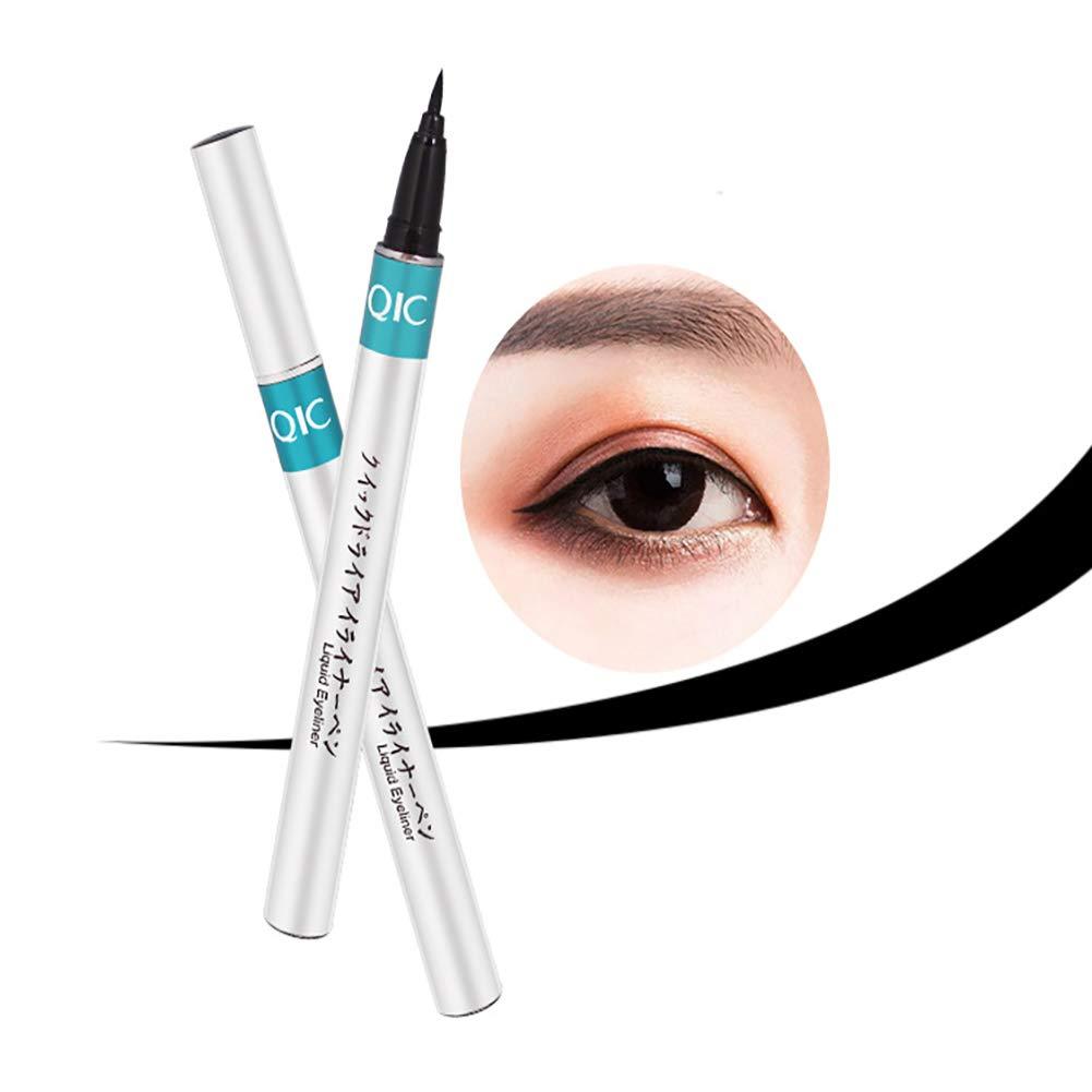 Cool negro 1pc eyeliner l/íquido ultra delgado largo pasado r/ápido seco punta fina eyeline Pen