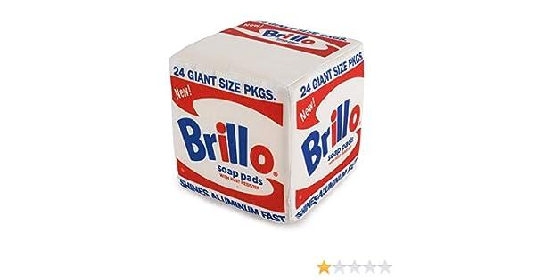 "kidrobot Andy Warhol White Brillo Box Medium Plush New 5/"""