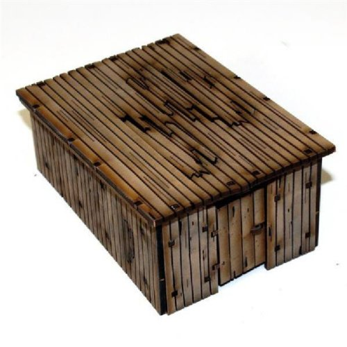 Wooden Outhouse/Storage Shed - Damageable (Pre-Painted) MINT/New by Terrain & Buildings - Ruins, Barricades, Obstacles, & Objectives 28mm