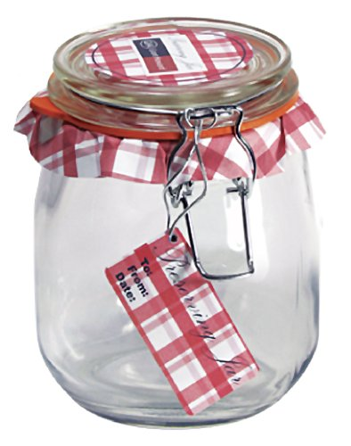 Grant Howard Round Glass Storage Jar, 3/4-Liter, Set of 6