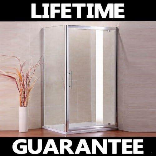 900 x 900 mm AquaSpa gbroth recinto de la ducha pívot puerta + ...