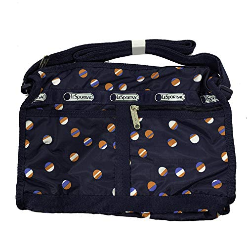 (LeSportsac Classic Deluxe Shoulder Satchel (Beach Ball Play Navy) )
