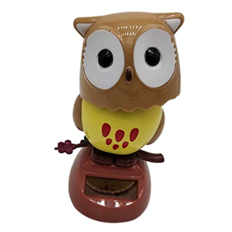 Interior Accessories Car-styling Solar Powered Dancing Owl Doll Automobile Decoration Ornaments Cute Auto Interior Dashboard Shaking Head Toys Gifts