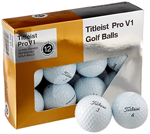Titleist Pro V1 Mint Refinished Official Golf Balls (One Dozen) Packaging May Vary (V1 Pro Titleist)
