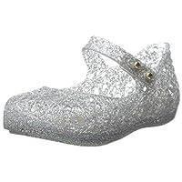 Mini Melissa Campana ZI Slingback Sandal (Toddler), Light Silver, 7 M US Toddler