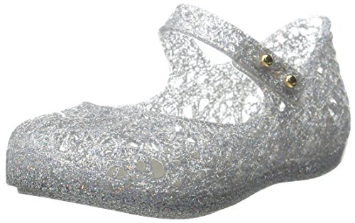 Price comparison product image Mini Melissa Campana ZI Slingback Sandal (Toddler),  Light Silver,  7 M US Toddler