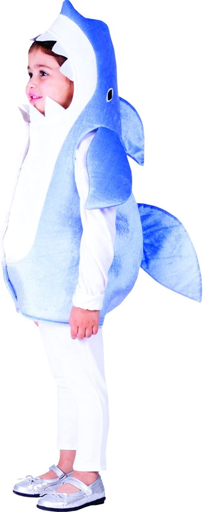 Dress Up America Sky Blue Shark - Size Toddler 2