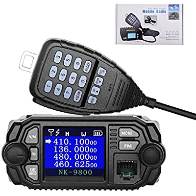 NKTECH NK-9800 Mobile Transceiver Dual Band Quad Standby 5-Tone 2-Tone VHF UHF 25W 20W 136-174 400-480MHz Car Trunk Radio Amateur Mini Color Screen Ham Walkie Talkie Upgrade  Standard-BK