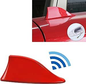MOLEAQI Universal Car Radio Shark Fin Car Shark Antenna Radio FM Diseño de señal Antenas Antena Red Car Styling