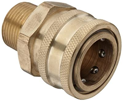 Dixon STMC Series Brass Hydraulic Quick-Connect Fitting, Coupling x Straight