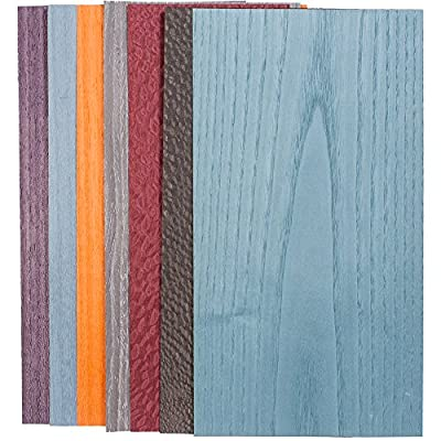 Dyed Wild Color Assortment, 3 Sq. Ft. Veneer Pack