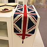 OLizee British Style Union Jack Household Accessories Home Decor(Table Runner)