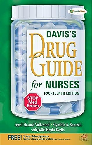davis s drug guide for nurses 9780803639768 medicine health rh amazon com davis drug guide 2017 davis drug guide pdf