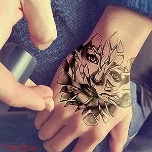 ljmljm 3pcs Impermeables tótem Tatuaje Negro Flecha Línea Tatto ...