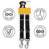 2 Pack Adjustable Dog Car Seat Belt, Designed by Friends Forever