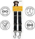 Dog Seat Belt Harness,Adjustable Pet Dog Cat Safety Leads Car Vehicle Seat Belt Harness Seatbelt,2 Pack Durable Nylon Dog Seat Belt Strap Designed by Friends Forever