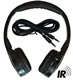 2 Channel KID SIZE Universal IR Infrared Wireless or Wired Car Headphones Autotain Cloud