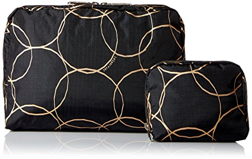 ge Rectangular and Square Cosmetic Case, Gold Links, One Size (Gold Link Bag)