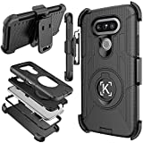 LG G5 Case,KaptronTM Hybrid Dual Layer Combo Armor Defender Protective Case with Kickstand and Belt Clip for LG G5