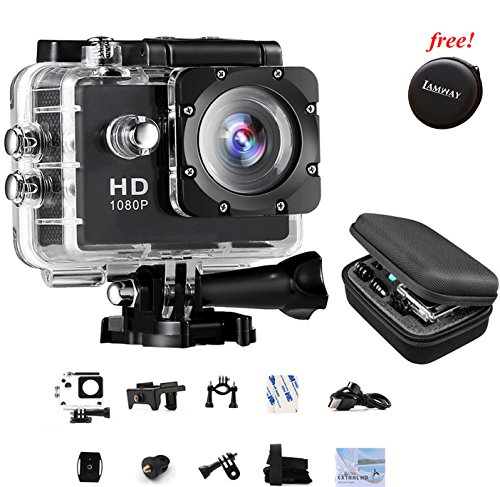 Sports Action Camera IAMWAY Ultra HD 30 Meter 1080P Waterproof DV Camcorde...