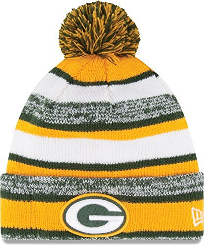New Era Green Bay Packers 2014 On Field Sport Cuffed Pom Knit Beanie Hat/Cap