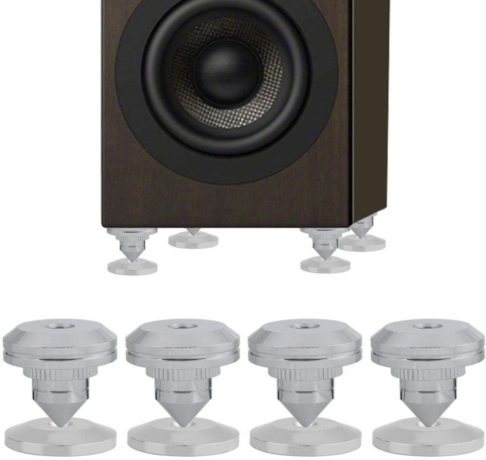 Details about  /4 Pairs Foot Shock Absorption Speaker Spike Set Isolation Stand M8x43 Base Pad