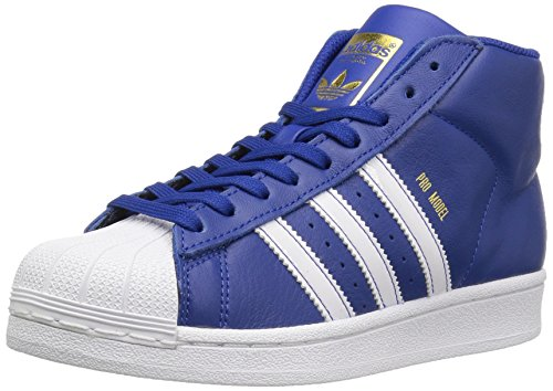 adidas Originals Boys' Pro Model J Sneaker, Collegiate Royal/White/Metallic/Gold, 4 M US Big (Collegiate Royal Footwear)