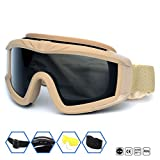 Best Airsoft Goggles - Outdoor Sports Military Airsoft Tactical Goggles with 3 Review