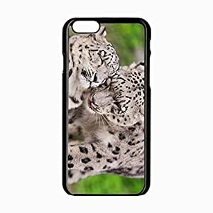 iPhone 6 Black Hardshell Case 4.7inch snow leopard steam tenderness caring predators Desin Images Protector Back Cover