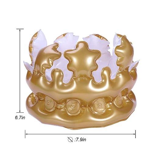 UNHO 1PC Corona de Cumpleaños Hinchable Corona Inflable PVC ...