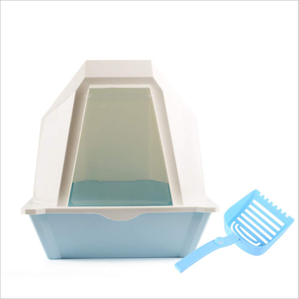 bluee B bluee B Cat Litter Bowl, Cat Toilet Has A Top Opening for Quick Cleaning Spacious Interior Space Environmentally Friendly and Non-Toxic,bluee,B