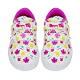 Peppa Pig Girls Low Top Double Strap Casual Sneakers, Size 9