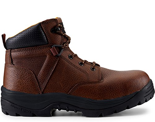 """Maelstrom Men's Utility Fit 6"""" Dark Brown Waterproof Composite Toe Work Boots For Work Industrial Construction Utility Outdoors - Comfortable Lightweight Boots - 1 Yr Manufacturer's Warranty, Size 12W"""